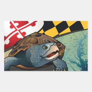 Tortuga acuática del ciudadano, la tortuga de pegatina rectangular