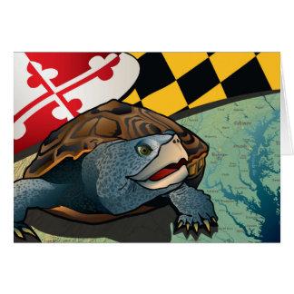 Tortuga acuática del ciudadano, la tortuga de tarjeta de felicitación