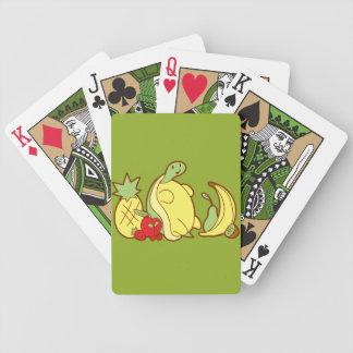 Tortuga adorable de la fruta cartas de juego