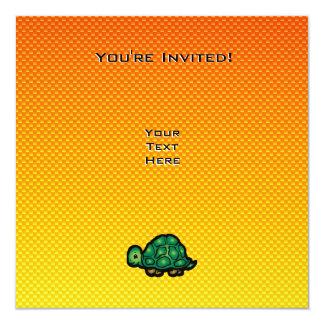 "Tortuga amarillo-naranja invitación 5.25"" x 5.25"""