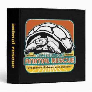 """Tortuga animal del rescate carpeta 1 1/2"""""""