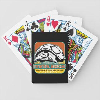 Tortuga animal del rescate baraja cartas de poker