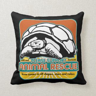 Tortuga animal del rescate almohadas