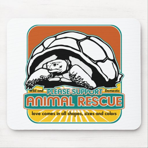Tortuga animal del rescate mouse pads