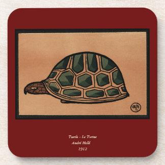 Tortuga - anticuaria, ejemplo de libro colorido posavasos de bebida