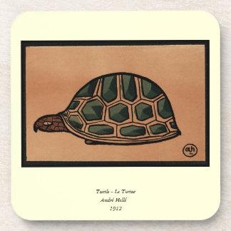 Tortuga - anticuaria, ejemplo de libro colorido posavasos de bebidas
