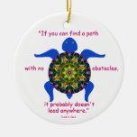 Tortuga caleidoscópica Ornament.1 de la mandala Ornamento De Reyes Magos