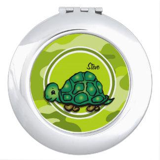 Tortuga; camo verde claro, camuflaje espejos maquillaje
