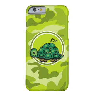 Tortuga; camo verde claro, camuflaje funda de iPhone 6 barely there