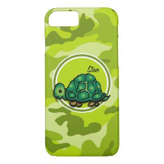 Tortuga; camo verde claro, camuflaje funda iPhone 7