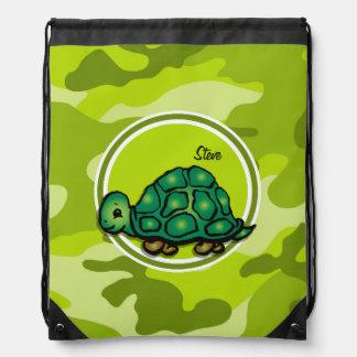 Tortuga; camo verde claro, camuflaje mochilas