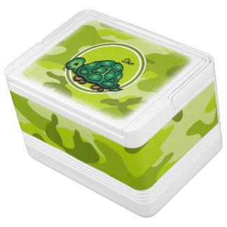 Tortuga; camo verde claro, camuflaje refrigerador igloo