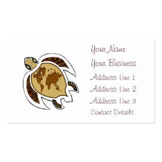 Tortuga colorida en tarjeta de visita