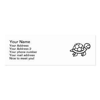 Tortuga cómica del océano tarjetas de visita mini