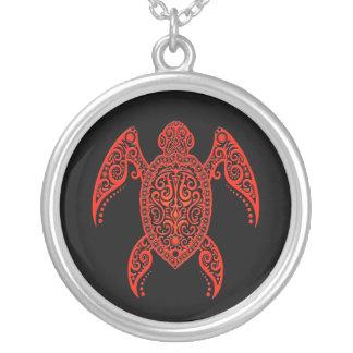 Tortuga compleja del negro y de Mar Rojo Colgante Personalizado
