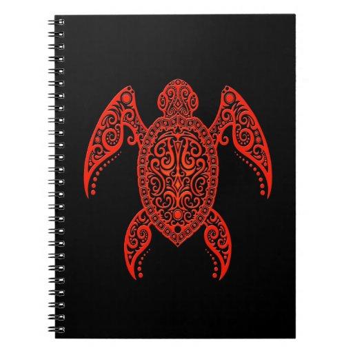 Tortuga compleja del negro y de Mar Rojo Cuaderno