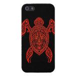 Tortuga compleja del negro y de Mar Rojo iPhone 5 Protectores