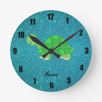 Tortuga conocida personalizada relojes de pared