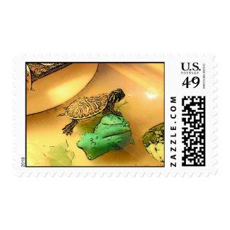 Tortuga-Contracción nerviosa Timbres Postales