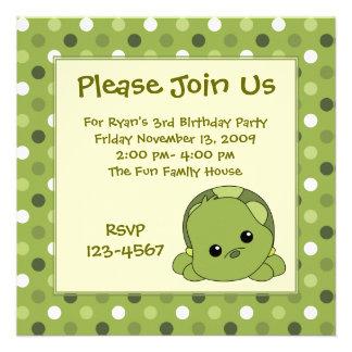 Tortuga Cutie Invitacion Personalizada