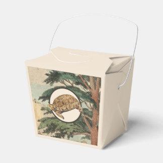 Tortuga de desierto en el ejemplo del hábitat cajas para detalles de boda