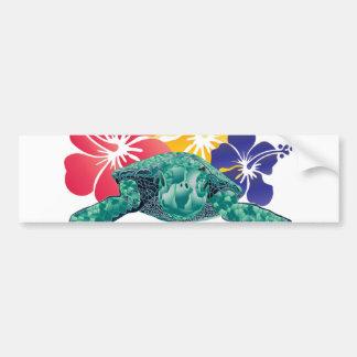 Tortuga de Hawaii Etiqueta De Parachoque