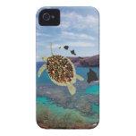 Tortuga de Hawaii de la bahía de Hanauma Case-Mate iPhone 4 Cárcasa