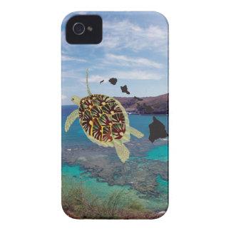 Tortuga de Hawaii de la bahía de Hanauma Funda Para iPhone 4
