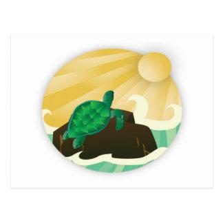 Tortuga de Hawaii de la bahía de Hanauma Tarjeta Postal