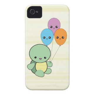 Tortuga de Kawaii con el caso del iPhone de los gl iPhone 4 Cobertura
