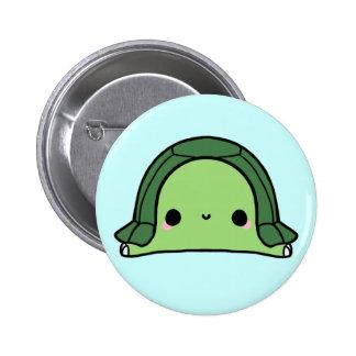 Tortuga de Kawaii (usted cambia el fondo!) Pin Redondo De 2 Pulgadas