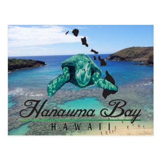 Tortuga de la bahía de Hawaii Hanauma - Honu Tarjetas Postales