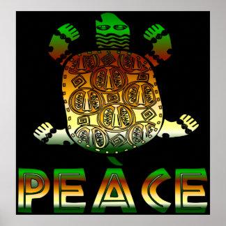 Tortuga de la paz poster