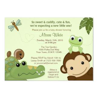 Tortuga de la rana del mono de la invitación de la invitación 12,7 x 17,8 cm