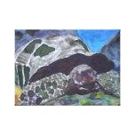 Tortuga de la tortuga del arte de la acuarela impresión de lienzo
