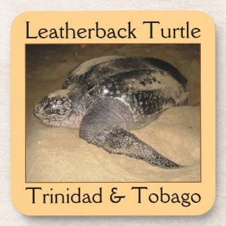 Tortuga de Leatherback de Trinidad and Tobago Posavasos De Bebidas