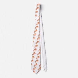 Tortuga de mar ardiente en colores alterados corbatas personalizadas