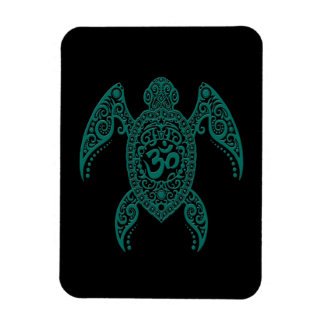 Tortuga de mar azul de OM del trullo en negro Iman Flexible