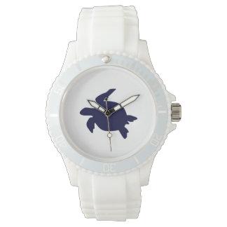 Tortuga de mar azul marino relojes