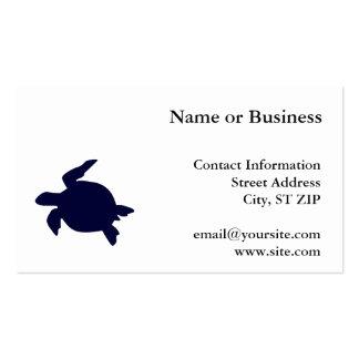 Tortuga de mar azul marino tarjetas de visita