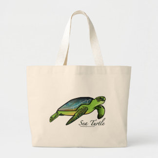 Tortuga de mar bolsa tela grande