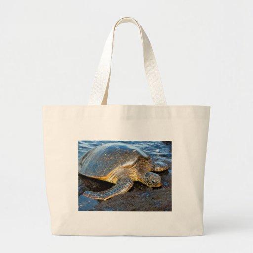 Tortuga de mar bolsas lienzo