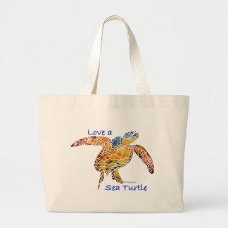 Tortuga de mar bolsa de mano