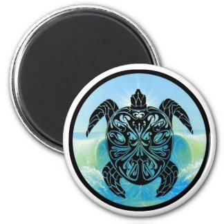 Tortuga de mar céltico imán de nevera