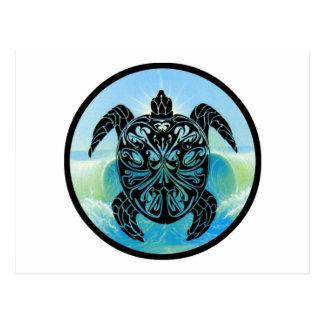 Tortuga de mar céltico postales
