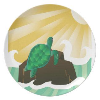 Tortuga de mar de Hawaii Plato De Cena