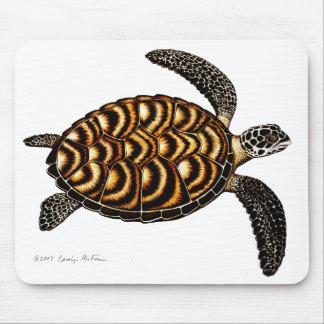 Tortuga de mar de Hawksbill Mousepad Tapetes De Ratón