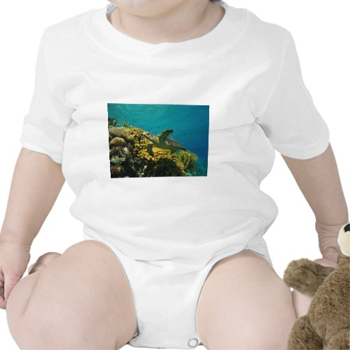 Tortuga de mar de Hawksbill Traje De Bebé