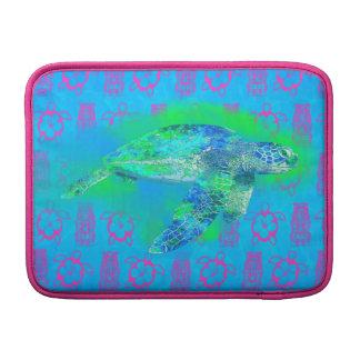 Tortuga de mar de la natación fundas para macbook air