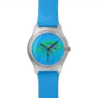 Tortuga de mar de la natación relojes de pulsera